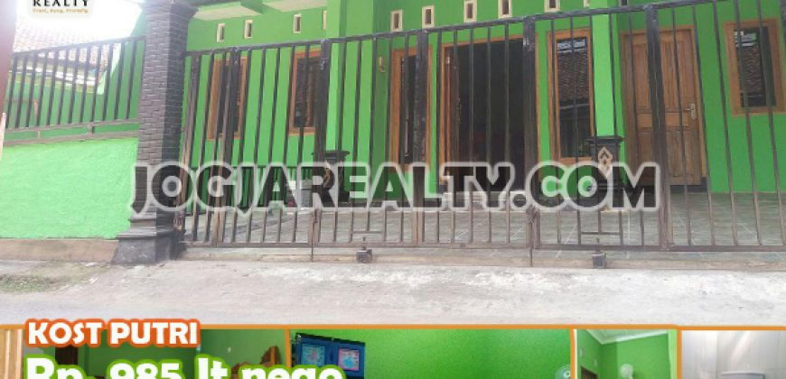 Dijual Rumah Kos Putri Dekat Kampus UAD Di Jogja Kota | RUMAH KOST DIJUAL DI JOGJA