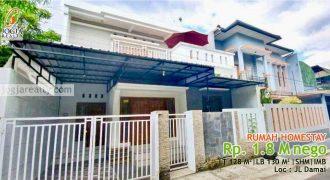 Rumah Homestay Dijual Jalan Damai