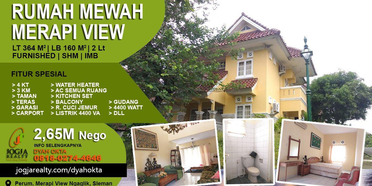 Jual rumah Merapi View Sleman Jogja