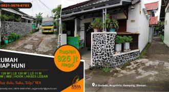 Rumah dijual Jalan Godean Nogotirto Gamping