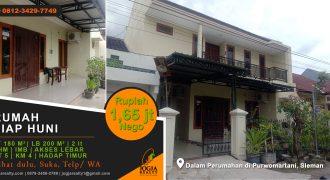 Rumah dijual timur Jogja Bay Purwomartani