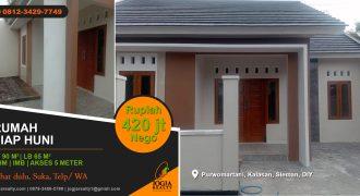 Rumah dijual di Purwo Martani Kalasan