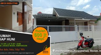 Rumah siap huni dalam perumahan Purwomartani