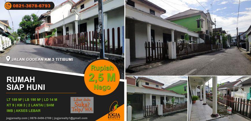 Rumah dijual jalan Godean Titibumi
