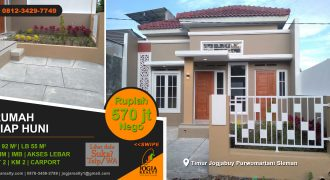 Rumah dijual timur Jogja Bay