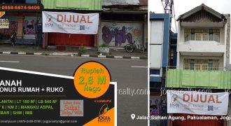 Tanah dijual Jalan Sultan Agung Pakualaman BU