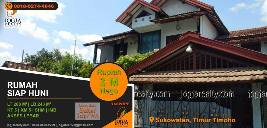 Rumah 2 lantai dijual Timoho Jogja