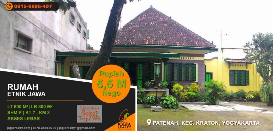 Rumah dijual dalam beteng Kraton Jogja