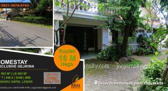Rumah homestay dijual Demangan Yogyakarta