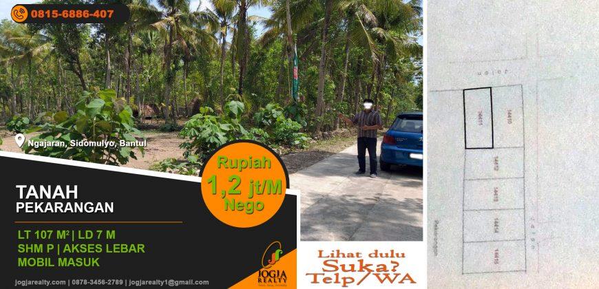 Tanah dijual di Bambanglipuro Bantul