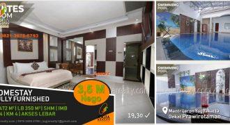 Homestay dijual dekat Prawirotaman Jogja
