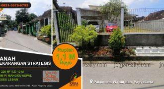 Tanah pekarangan dijual Wirobrajan Yogyakarta