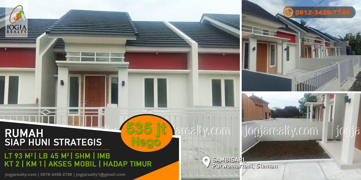 Rumah baru dijual Sambisari Jogja