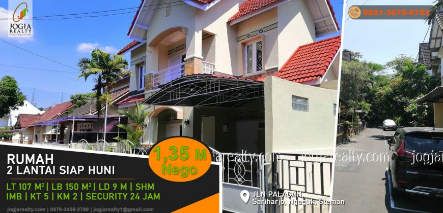 Rumah 2 lantai siap huni Jalan Palagan