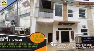 Rumah baru 2 lantai Jalan Kaliurang Sleman