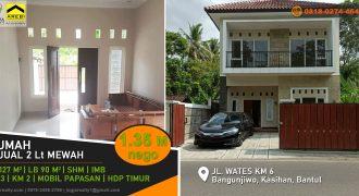 Rumah 2 lantai siap huni Jalan Wates